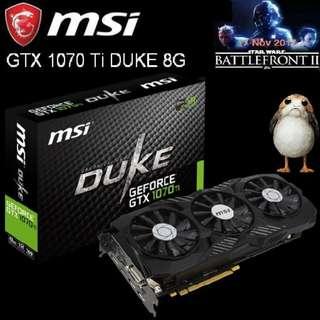 MSI GTX 1070 Ti DUKE 8G..