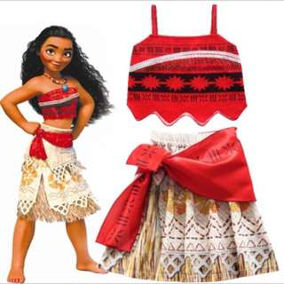 Instock moana dress brand new size 100-140cm