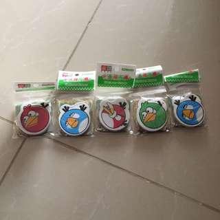 Angry bird Eraser collection