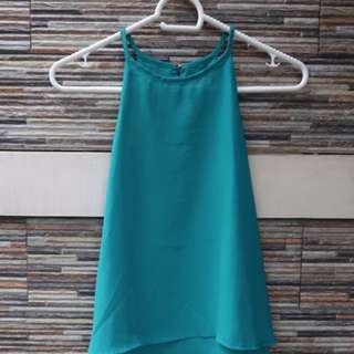 Teal Sleveless Top