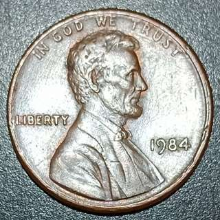 1984 lincoln cent (double die)