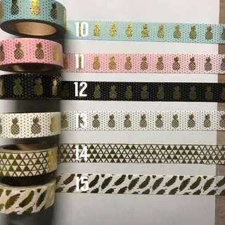 GOLD Washi Tape samples!!