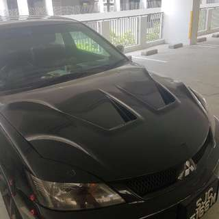 Lancer glx/cs3 aftermarket bonnet.