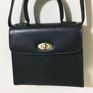 Coach Madison vintage Black Two Way Bag ❌Hermes Ferragamo Dior Gucci Celine