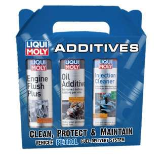 Liqui moly 3-1 engine flush,oil additive and fuel injector cleaner