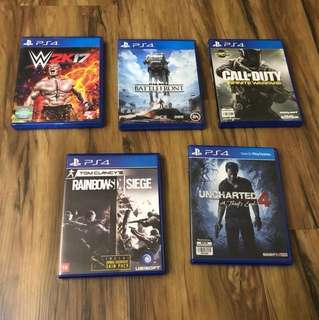 PS4 Games (Only left with Starwars)
