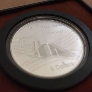 Year 1976 Montreal Olympics Silver coin collectable