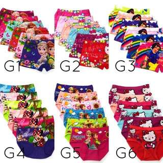Kids cartoon underwear