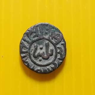2 Ghani - Ghiyath al-Din Balban (1266-1287) Billon – 3.6 g – ø 16.94 mm - bi18 - Beautiful vintage Billion Coin Medieval Islamic Persian ( 600 - 1000 Years old ) DELHI SULTAN  india
