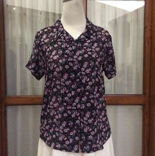 Floral top - baju kerja - baju kuliah