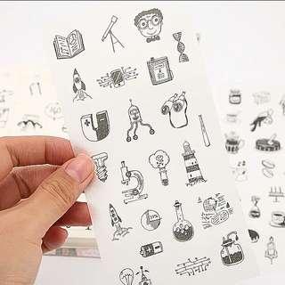 小世界和紙貼紙