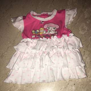 Baby Dress authentic Sanrio melody