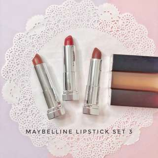 Maybelline lipstick set - authentic big sale discount preloved