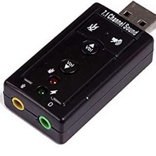v1: USB Sound Card Audio Adapter PnP for Windows / Mac OS - brand new