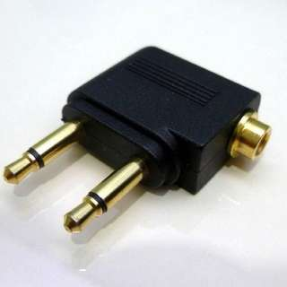 3.5mm to 2 3.5mm: airplane adaptor