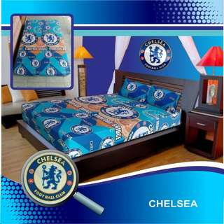SPREI RESLETING MOTIF CLUB BOLA UK 160x200