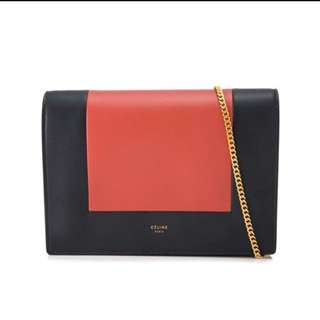 Celine frame evening clutch on chain