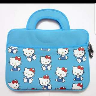 In stock hello kitty laptop bag for 10 inches ipad cover with handle