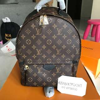 Customer's purchased, Louis Vuitton Palmspring Bagpack large