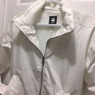 G Star Raw White Bomber Jacket Size Small Unisex