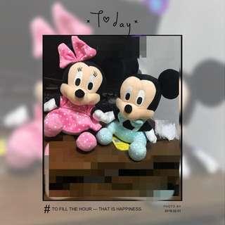 Disney Soft Toys ( Minnie / Mickey / Dale / Eeyore / Daisy)