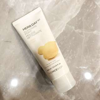 THE FACE SHOP CLEANSING FOAM MOUSSE IN LEMON CITRON