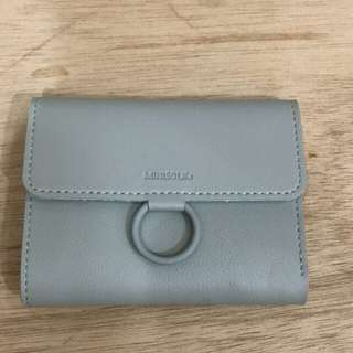 Miniso ring wallet gray dompet miniso