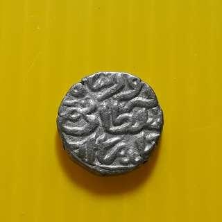 32 Rati - Muhammad bin Tughluq (1325-1351) Billon – 3.42 g – ø 14 mm - bi23 - Beautiful vintage Billion Coin Medieval Islamic Persian ( 600 - 1000 Years old ) DELHI SULTAN  india