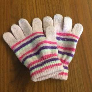 Kids Pink Winter Gloves