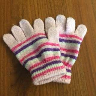 Kids Pink Winter Gloves