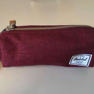 Hershel 紅色 筆袋,萬用袋