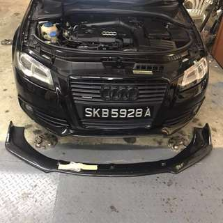 Audi a3/s3/a4/s4 aggressive front splitter lip