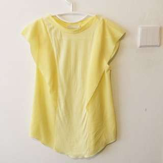PADINI Light Yellow Top S