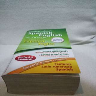 Merriam Webster's Spanish-English Dictionary