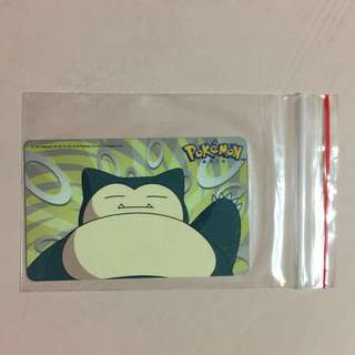 Limited Edition brand new Pokemon Asia Snorlax Design ezlink Card For $13.90.