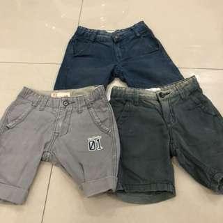 3pcs Padini Boy Short Pants (2-3years)