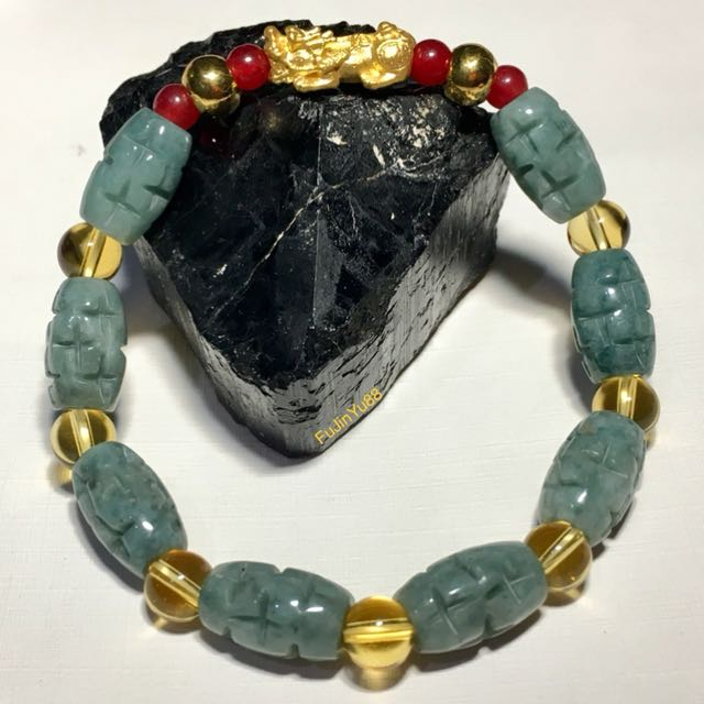 24K Gold PiYao with Jade