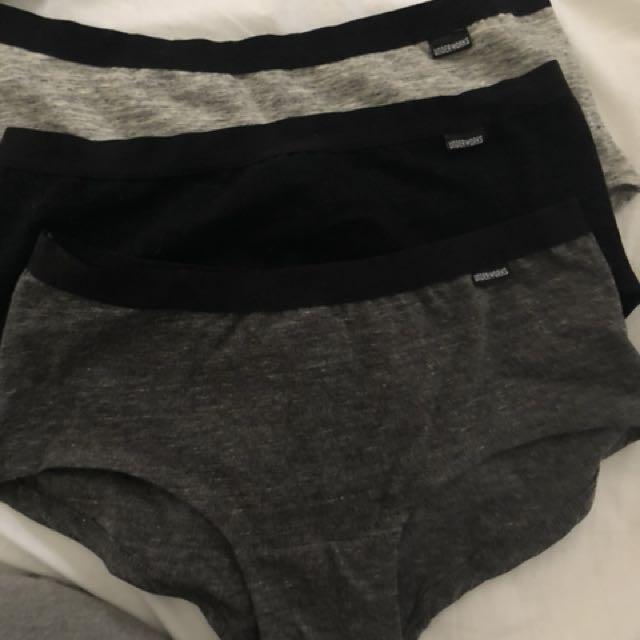 3 pack boyleg undies