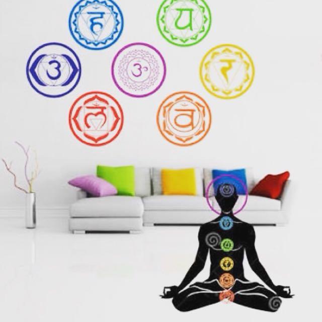 7 Chakras Wall decor stickers set
