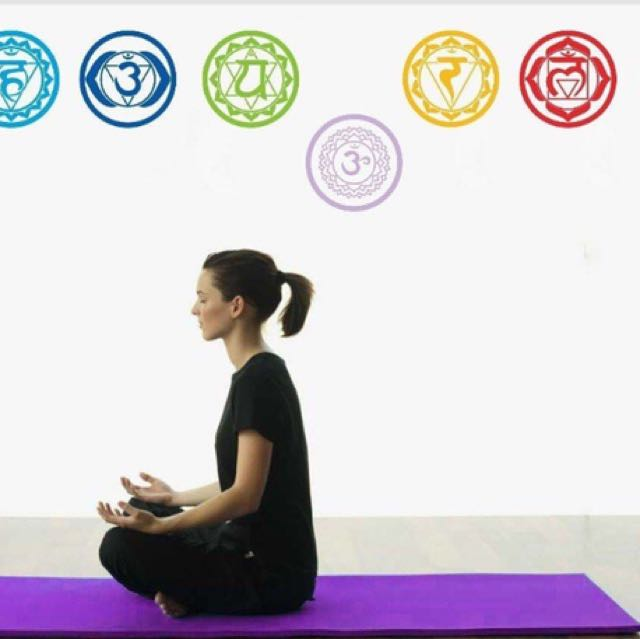 7 Chakras Wall decor stickers set