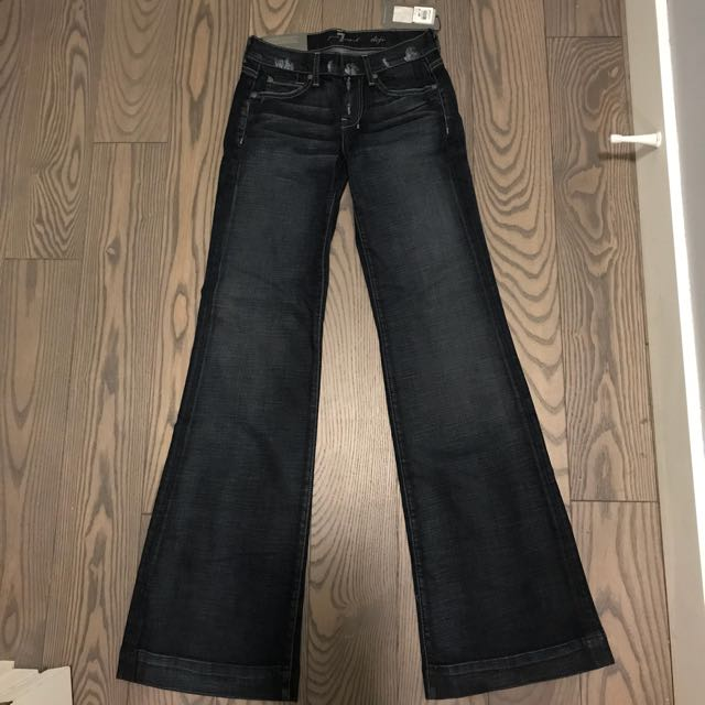 7 for all mankind dojo flared jeans