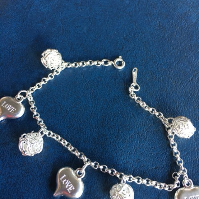 925 silver with stamp bracelet with charm or nearest offer free shipping