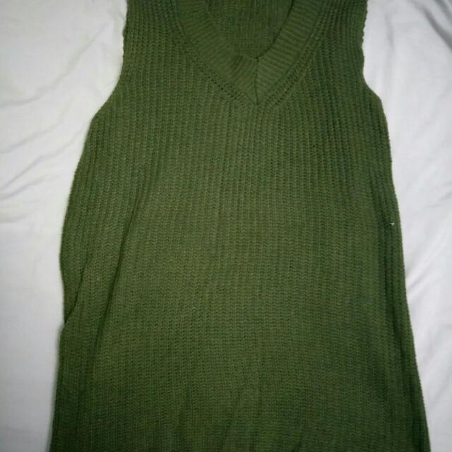 針織長版上衣/洋裝/針織長背心
