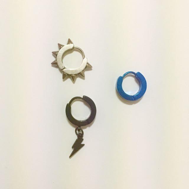 卯釘/閃電/電鍍藍