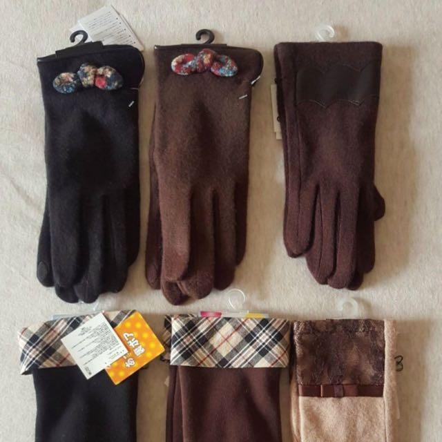 全新日本保暖手套可滑手機