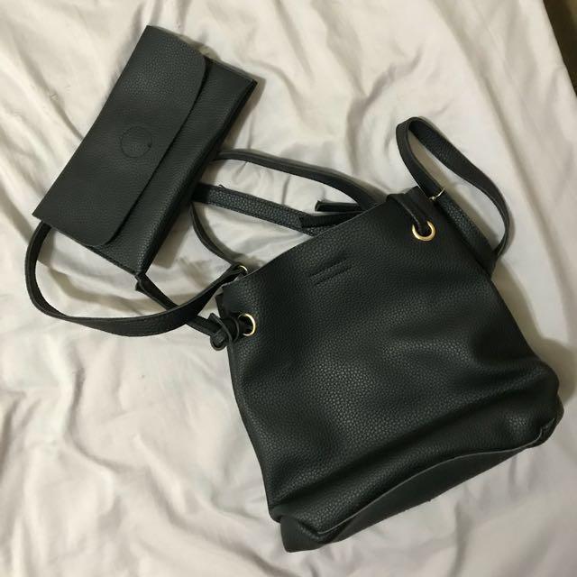 黑色 手提包側背包