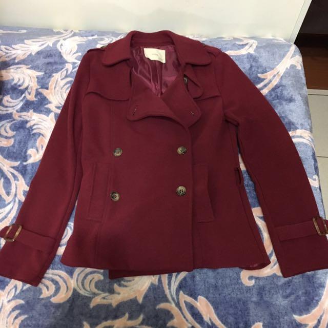韓製棗紅色外套 過年大降價🎺
