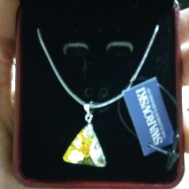 品牌 墜飾 項鍊 耳環 ♡三角形♡Jewelry 百貨公司 施華洛世奇