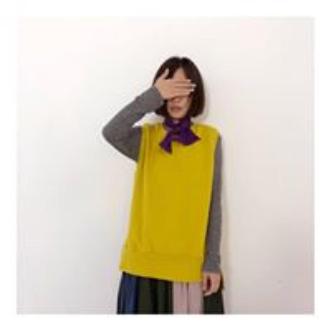 韓國製 大學T樣式背心版!100% cotton中磅棉簡單寬鬆版背心系列 高麗納戶綠(こうらいなんど)