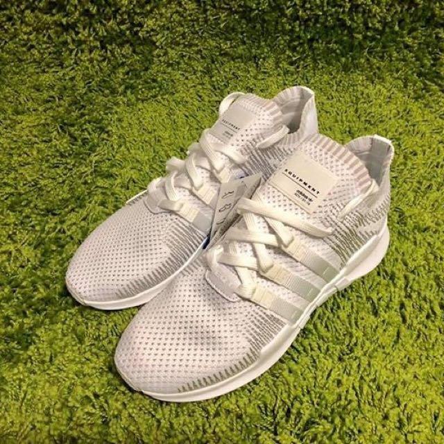 promo code 8b65e d3acc Adidas EQT Support ADV Primeknit - Triple White BY9391, Mens Fashion,  Footwear on Carousell